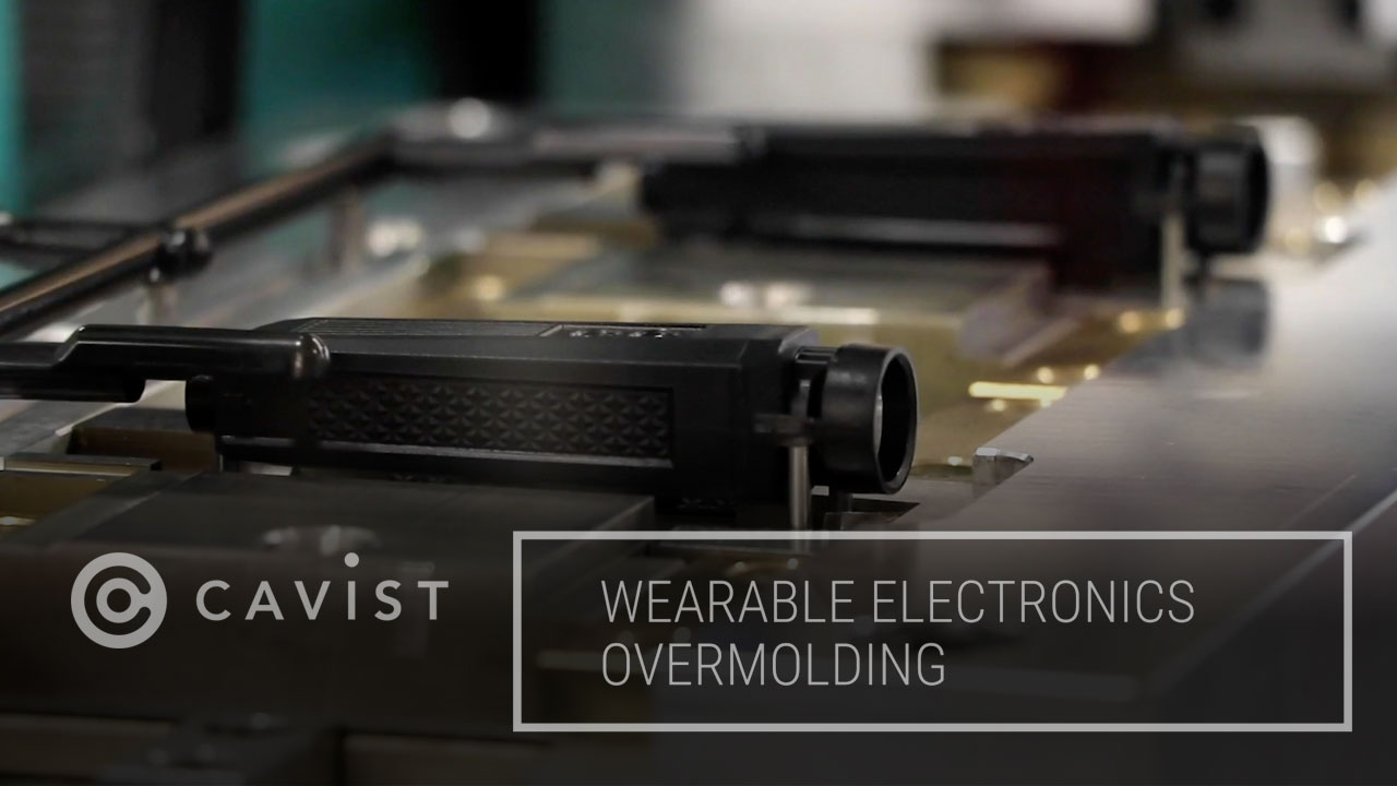Cavist wearable electronics overmolding